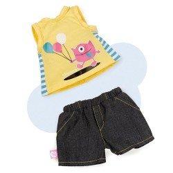 Ropa para muñeco Nenuco 42 cm - Ropita casual - Camiseta amarilla y pantalón vaquero