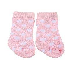 Complementos para muñeca Götz 42-50 cm - Calcetines rosas con lunares blancos