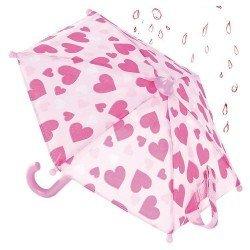 Complementos para muñeca Götz 45-50 cm - Paraguas con corazones
