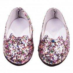 Complementos para muñeca Götz 42-50 cm - Zapatos bailarina glitter