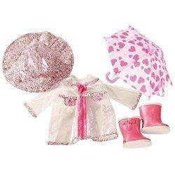 Ropa para muñeca Götz 45-50 cm - Conjunto día de lluvia
