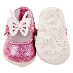 Complementos para muñeca Götz 42-50 cm - Zapatos rosas con brillo y mariposa