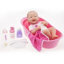 Muñeco Designed by Berenguer 36 cm - La Newborn - Recién nacido con set de bañera
