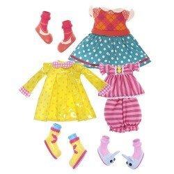 Ropa para muñecas Lalaloopsy 31 cm - Set Impermeable, pijama y vestido