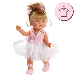 Ropa para Muñecas Llorens 28 cm - Vestido Valeria ballet rosa