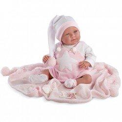 Muñeca Llorens 42 cm - Lala Llorona con pijama y toquilla rosa