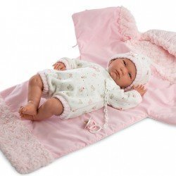 Muñeca Llorens 42 cm - Lala Llorona con saquito-cambiador rosa