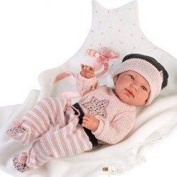 Muñeca Llorens 43 cm - Recién nacida Tina con mantita con estrella