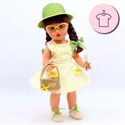 Ropa para muñeca Mariquita Pérez 50 cm - Conjunto jardinera