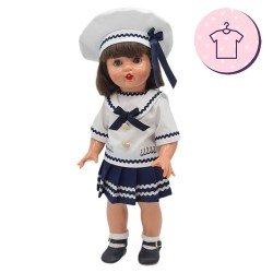 Ropa para muñeca Mariquita Pérez 50 cm - Conjunto marinera 2021
