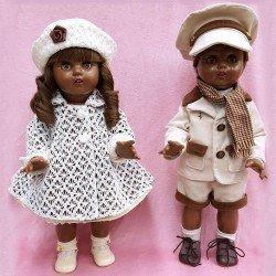 Pareja de muñecos Mariquita Pérez y Juanín Pérez 50 cm - Especial mulatos modelo Habana