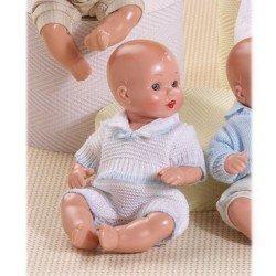 Muñeco Mini Juanín Bebé 20 cm - Con conjunto de punto blanco
