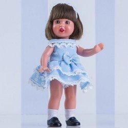 Muñeca Mini Mariquita Pérez 21 cm - Con vestido celeste con flores