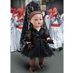 Muñeca Mariquita Pérez 50 cm - Con teja y mantilla