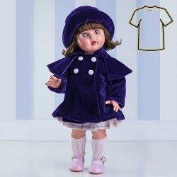 Ropa para muñeca Mariquita Pérez 50 cm - Conjunto de abrigo morado