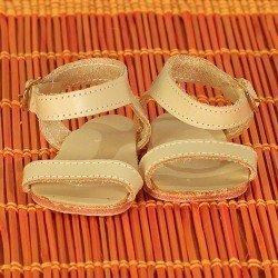 Complementos para muñeca Mariquita Pérez 50 cm - Sandalias piel beige