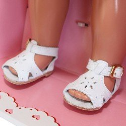 Complementos para muñeca Mariquita Pérez 50 cm - Sandalias piel blanca