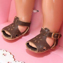 Complementos para muñeca Mariquita Pérez 50 cm - Sandalias piel marrones