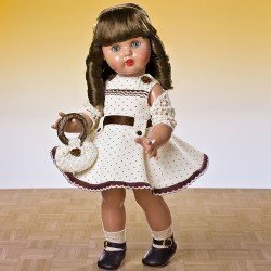 Mariquita Pérez vest. beig topos marrón