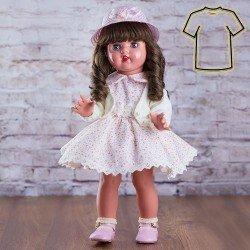 Ropa para muñeca Mariquita Pérez 50 cm - Vestido beige florecitas