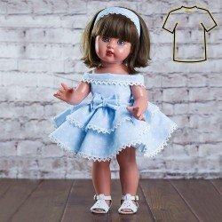 Ropa para muñeca Mariquita Pérez 50 cm - Vestido volantes azul