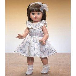 Muñeca Mariquita Pérez 50 cm - Con vestido estampado gris