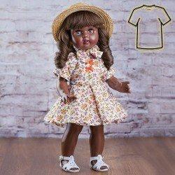Ropa para muñeca Mariquita Pérez 50 cm - Vestido florecitas naranja