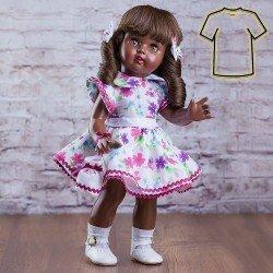Ropa para muñeca Mariquita Pérez 50 cm - Vestido flores fucsia