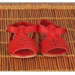 Complementos para muñecas Mariquita Pérez 50 cm - Sandalias piel roja