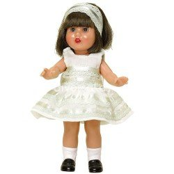 Muñeca Mini Mariquita Pérez 21 cm - Con vestido beige de fiesta