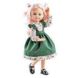 Muñeca Paola Reina 32 cm - Las Amigas Articuladas - Cleo con vestido de flores