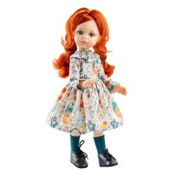 Muñeca Paola Reina 32 cm - Las Amigas Articuladas - Cristi con vestido de flores