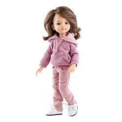 Muñeca Paola Reina 32 cm - Las Amigas Articuladas - Liu con conjunto rosa