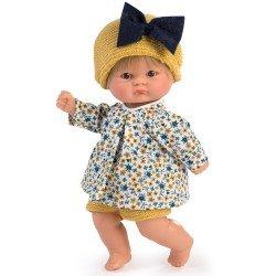 Muñeco Así 20 cm - Bomboncín con conjunto de camisa de flores y pantalón mostaza