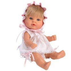 Muñeca Así 20 cm - Bomboncín con conjunto de organza blanca y rosa