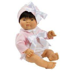 Muñeca Así 36 cm - Chinín con ranita blanca con chaqueta rosa