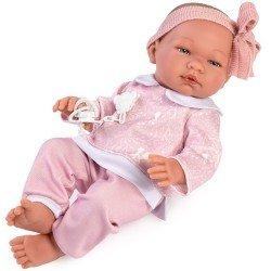 Muñeca Así 43 cm - María con chándal de conejitos rosa