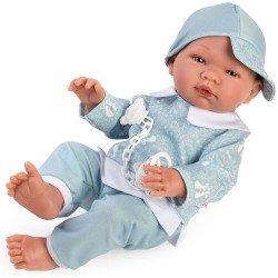 Muñeco Así 43 cm - Pablo con chándal de conejitos azul