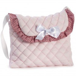 Complementos muñecas Así - Bolso rosa con estrellas blancas para silla paraguas