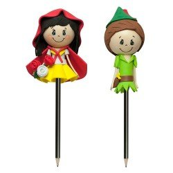 Kit de montaje Fofulápiz - Caperucita roja y Peter Pan