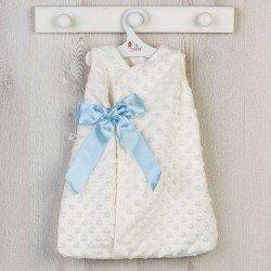 Ropa para Muñecas Así 46 cm - Saco de dormir con lazo azul para muñeca Leo