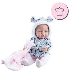 Ropa para muñecas Paola Reina 45 cm - Bebitos - Conjunto pandas con doudou estrella