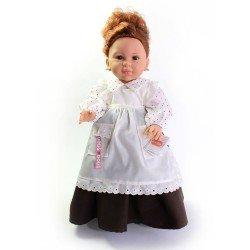 Muñeca Paola Reina 42 cm - Doloretes con vestido blanco/marrón (El Secreto de Puente Viejo)