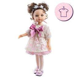 Ropa para muñecas Paola Reina 32 cm - Las Amigas - Conjunto Carol rosa