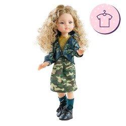 Ropa para muñecas Paola Reina 32 cm - Las Amigas - Conjunto Manica de estampado militar