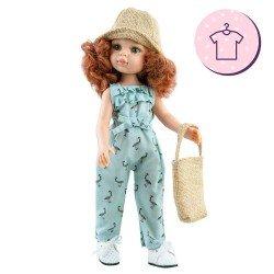 Ropa para muñecas Paola Reina 32 cm - Las Amigas - Mono Cristi con bolso y gorro
