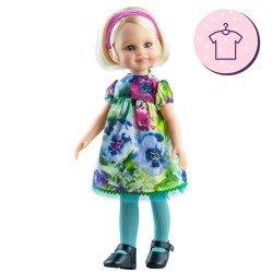 Ropa para muñecas Paola Reina 32 cm - Las Amigas - Vestido Bárbara de flores