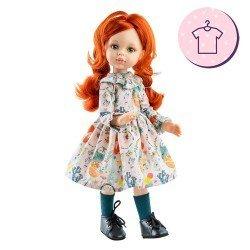 Ropa para muñecas Paola Reina 32 cm - Las Amigas - Vestido Cristi de flores