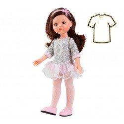 Ropa para muñecas Paola Reina 32 cm - Las Amigas - Vestido rosa-gris Carol