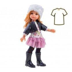 Ropa para muñecas Paola Reina 32 cm - Las Amigas - Conjunto chaqueta piel sha